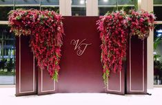 D A R K B E R R Y A special collaboration with Vincent & Janet's Wedding Dinner Reception. Wedding Backdrop Design, Wedding Stage Design, Wedding Reception Backdrop, Wedding Stage Decorations, Floral Backdrop, Backdrop Decorations, Flower Decorations, Wedding Designs, Backdrops