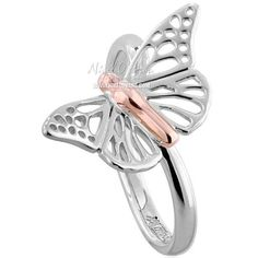Clogau Ladies' Sterling Silver Butterfly Ring - 3SBWLR01 - £99