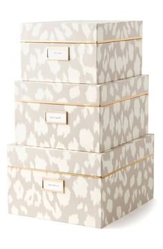 Currently crushing on these cute Kate Spade storage boxes that are perfect for staying organized.