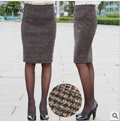 Jaderic  Free shipping 2016 new  plaid sexy OL knee-length  fashion Skirt high quality check Pencil Skirts SMLXXXXL