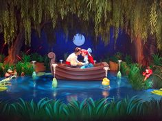 Under the Sea-Journey of the Little Mermaid at Magic Kingdom Disney World. As nice as this was I will skip this ride next time we go. Its not a ride that is worth the long wait. Its fairly simple in my own opinion.
