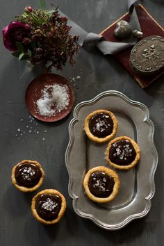 """Sea salt ganache tartletts.  First of all who loves the name """"tartlett"""" Second, they are too cute NOT to eat!"""