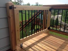 From a welcoming statement to a safety implement, discover the top 50 best deck gate ideas. Explore backyard gate designs from wood to metal and beyond. Deck Gate, Porch Gate, Stair Gate, Deck Stairs, Deck Railings, Railing Ideas, Cool Deck, Diy Deck, Patio Deck Designs