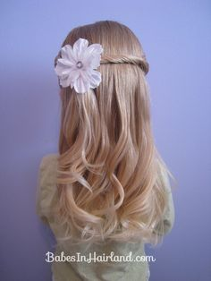 Could be used as a Flower Girl hair style