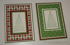 www.rosa-pink-glitzer.de  Weihnachtskarten mit Stampin up