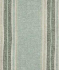 valence fabric for kitchen window? Robert Allen Josie Stripe Aquatic