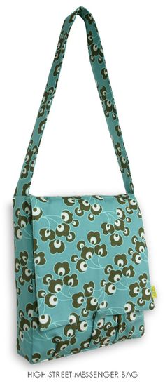 Amy Butler messenger bag - her fabric/pattern combos are so cool!
