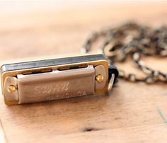 Silver Harmonica Necklace.