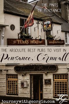 Are you visiting Penzance? Or just looking for some great pubs in Cornwall? I've checked out the options and put together this list of the best pubs in Penzance. Penzance Cornwall, England Countryside, Best Pubs, English Country Style, The Turk, Beer Tasting, England And Scotland, Cool Places To Visit, Good Things