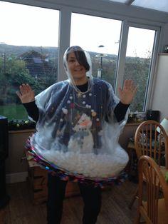 Snow globe christmas costume.