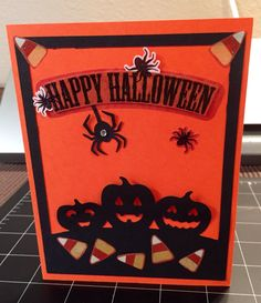 Homemade-Happy Halloween card, -Cricut https://kraftygrandmascards.etsy.com/