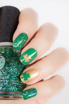Super Fun Nail Designs For St. Patrick's Day