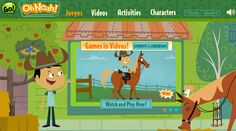 Oh Noah! Help students learn a second language. http://pbskids.org/noah/index.html