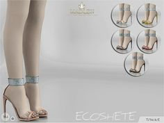 The Sims Resource: Madlen Ecoshete Shoes by MJ95 • Sims 4 Downloads
