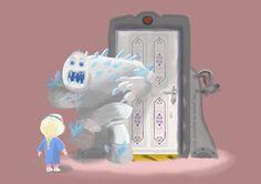 """Kitty!"" Frozen with Monster's Inc. theme. Source: http://ever-everafter.deviantart.com/art/Kitty-435444080"