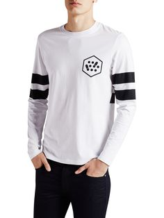 GRAPHIC LONG SLEEVED T-SHIRT, White