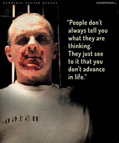 20 Quotes By Hannibal Lecter That Prove There's A Fine Line Between Genius & Insanity Cinema Quotes, Movie Quotes, Funny Quotes, Psych Quotes, Qoutes, Badass Quotes, Hannibal Quotes, Hannibal Funny, Psychopath Quotes