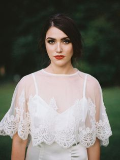 Garter Girl Loves: This lace bridal caplet