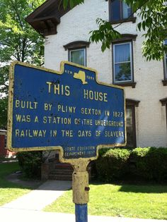 Palmyra New York- House used in the underground railroad during slavery