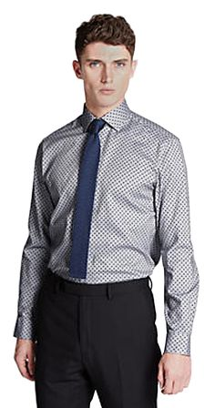 "M&S AUTOGRAPH Pure Cotton Tailored Fit Spotted Oxford Shirt T11/0666B.  UK Collar 18.5"" Inches EUR Collar 47cm  MRRP: £35.00GBP - AVI Price: £24.00GBP"