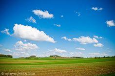 farm field in spring, Franconia, Bavaria, Germany