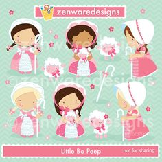 Little Bo Peep imágenes prediseñadas