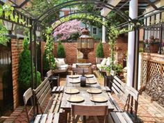 Warning: These patios have been known to cause major real estate envy. From fireside loungers to satin-draped palaces, we've rounded up a few of the most magazine-worthy patios from Zillow listings. Outdoor Retreat, Outdoor Rooms, Outdoor Gardens, Backyard Retreat, Backyard Landscaping, Patio Dining, Outdoor Dining, Outdoor Decor, Dining Area