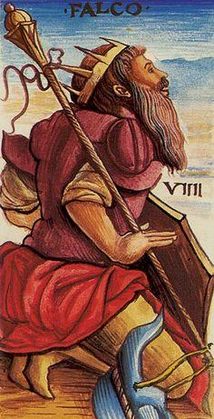 Belle Constantinne - IX The Hermit (Falco) - Sola-Busca Tarot