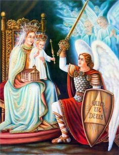 Virgin Mary with Baby Jesus a day Archangel Michael