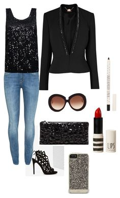 Black & party jeans by claudia-moedas on Polyvore featuring polyvore, mode, style, ONLY, Phase Eight, Lee, Nasty Gal, BCBGMAXAZRIA, Case-Mate, Valentino and Topshop