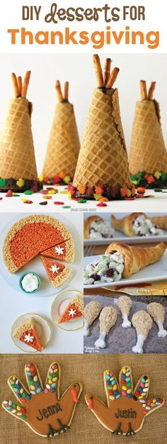 for Thanksgiving These DIY Desserts for Thanksgiving are fun ideas for the kids to help with the holiday baking for Thanksgiving.These DIY Desserts for Thanksgiving are fun ideas for the kids to help with the holiday baking for Thanksgiving. Thanksgiving Truthan, Thanksgiving Desserts Easy, Holiday Desserts, Holiday Baking, Thanksgiving Decorations, Holiday Treats, Holiday Recipes, Thanksgiving Cookies, Dinner Recipes