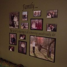 Family picture wall. like this arrangement