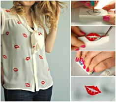 How to make your own lips stencilled shirt | A DIY by The Makeup Dummy