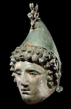"The ""Crosby Garrett"" Roman bronze cavalry parade helmet, 1st-2nd century, CE, found in England, May, 2010."