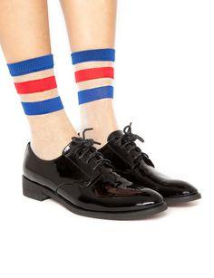 Stripe sheer socks $12