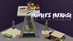 Sims 4 CC's - The Best: TS3 Painter's Paradise Clutter Conversions by Sims...