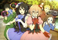 Anime picture 5784x4077 with  kyoukai no kanata kuriyama mirai nase mitsuki kanbara akihito shindou ai nase hiroomi long h...
