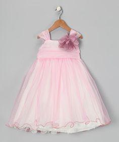 Love this Rose & Ivory Flower Chiffon Babydoll Dress - Toddler & Girls on #zulily! #zulilyfinds