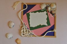 tarjeta estilo marinero Frame, Home Decor, Sailor Style, Manualidades, Picture Frame, Decoration Home, Room Decor, Frames, Home Interior Design