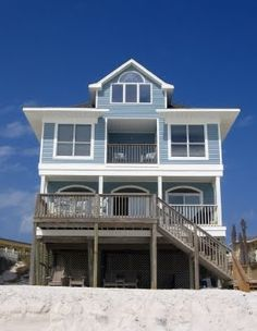 Florida Beach House - Pretty much where Hubby and I want to live one day.