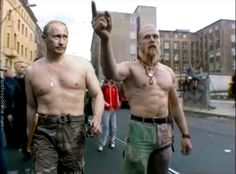 Putin and the Techno Vicking on the Berlin Fuck Parade. Yeah! XD
