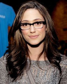 Emmy Rossum in Two-Tone Glasses - The Perfect Star-Inspired Glasses for You - Look Your Best This Fall - Fashion - InStyle