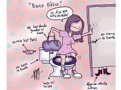 chiste grafico baño publico