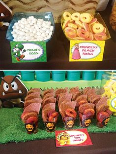 Super Mario Bros Party Ideas // Hostess with the Mostess® Super Mario Bros, Super Mario Party, Super Mario Birthday, Mario Birthday Party, 4th Birthday Parties, 7th Birthday, Birthday Ideas, Super Mario Brothers, Cake Birthday