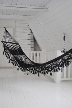 Black, Lacy Hammock