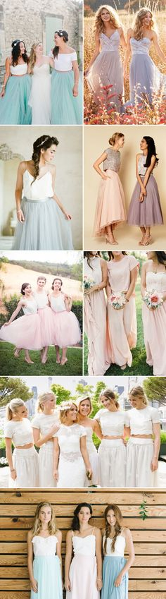 Bridesmaid trends for 2016 state that your girls don't have to look like clones and it's time to show some personalities! Dresses with mismatched back details, patterns, styles, necklines, and two-piece combinations are incredibly chic ways to offer your besties some options that would best fit their unique figure and taste.  Read on for our …