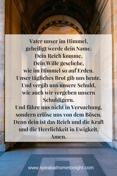Our Father in German; Lord's Prayer; Learn German