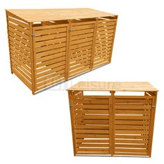 OUTDOOR WHEELIE BIN STORAGE DOUBLE AND TRIPLE SHED WOODEN DUSTBIN RUBBISH SCREEN | Garden & Patio, Garden Structures & Shade, Other Structures & Shade | eBay!