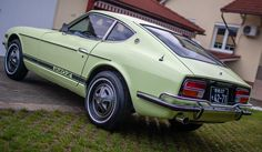 1972 Lime Yellow Datsun for Sale Europe Datsun 240z For Sale, Collector Cars, Cars For Sale, Classic Cars, Restoration, Seeds, Lime, Japanese, Yellow