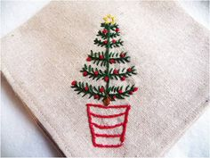 Art Threads: Monday Project - Christmas Tree Embroidery Pattern